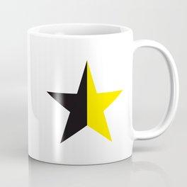 Ancap Star flag yellow and black on white background Coffee Mug