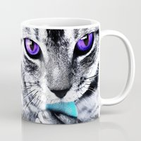 thundercats Mugs featuring Purple eyes Cat by Augustinet