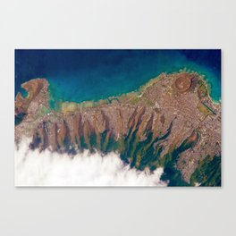 Aerial view of Honolulu Hawaii Canvas Print