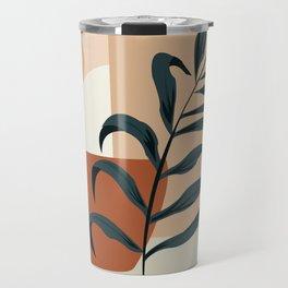 Abstract modern art, leaf, sun and shapes Travel Mug