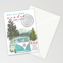 """""""Not all who wander, are lost"""" poster print Stationery Cards"""