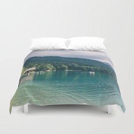 Alpsee Summer Mountain Lake Duvet Cover