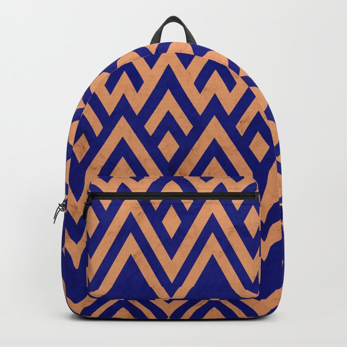Blue Pines Vintage Pattern Backpack