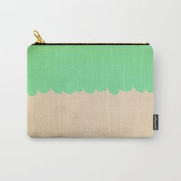 A Single Mint Scallop Carry-All Pouch