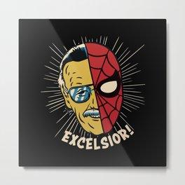 Stan Lee Excelsior Metal Print
