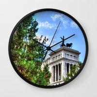 rome Wall Clocks featuring Rome. by haroulita
