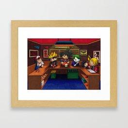 Anime/Comic Bar Framed Art Print