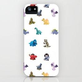 Ten Plush Dinos Pattern iPhone Case