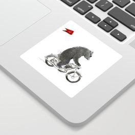 Motorcycle Bear Sticker
