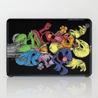 sesame street iPad Cases featuring A Sesame Street Thriller by Anwar Rafiee
