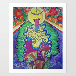 Sunshrooms Art Print