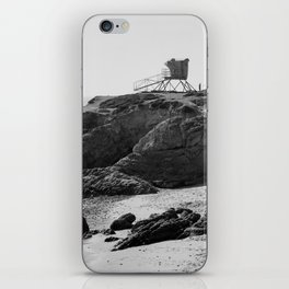 Leo Carrillo State Beach | Malibu California | Black and White Photography | Malibu Photography iPhone Skin