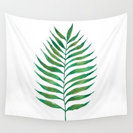 Palm Frond Watercolor Painting Wall Tapestry