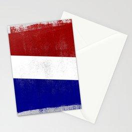 Netherlands Distressed Halftone Denim Flag Stationery Cards