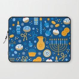 Hanukkah Happy Holidays Pattern Laptop Sleeve