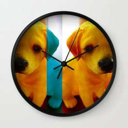 Pup Blues Wall Clock