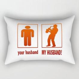 Saxophone Player - My Husband Rectangular Pillow