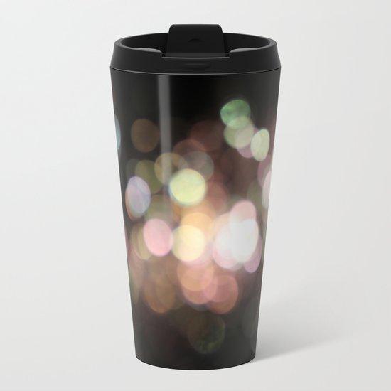 Bubbly Bokeh Metal Travel Mug