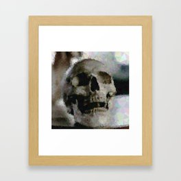 Geometric Skull Framed Art Print
