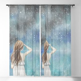 Look at the stars Sheer Curtain
