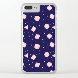 Star Blossom Dice Clear iPhone Case