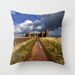 Slains Castle Throw Pillow