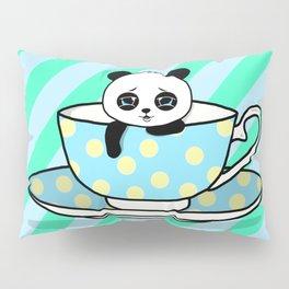A Tired Panda Pillow Sham