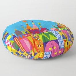 It's a Small World Floor Pillow