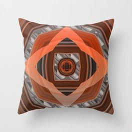 Glowing Mahogany Elegant Geometric Throw Pillow