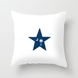 flag of south carolina 4-Savannah,Palmetto,Carolinian,Cotton,South,South carolina,Carolina Throw Pillow