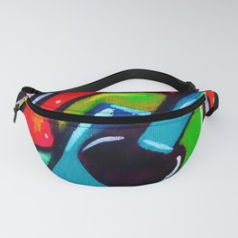 Blue Funky Guitar Fanny Pack