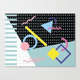 Memphis Pattern 6 - 80s - 90s - Retro Canvas Print