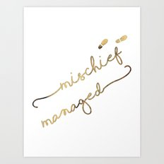 Mischief Managed (white) Art Print