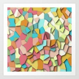 mosaic chaos Art Print