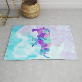 Abstract Rhino B Rug