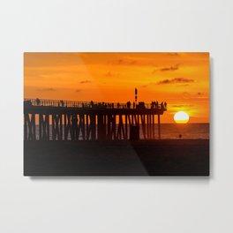 Sunset at the Beach Metal Print