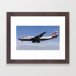 British Airways Boeing 747 Framed Art Print