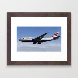 British Airways Boeing 747 Framed Art Print