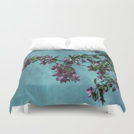 Pink Over Turquoise by CheyAnne Sexton Duvet Cover