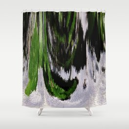 3-D Cypruss & Snow Dusting Shower Curtain