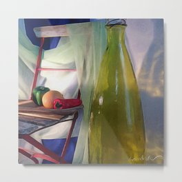 The Green Bottle Metal Print