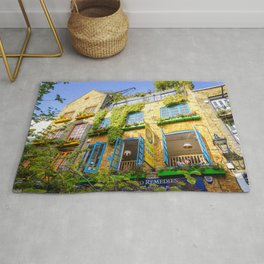 A colorful en botanic cafe at Neals Yard in London | Color Photography | Travel Photography | Photo Print | Art Print Rug