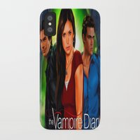 the vampire diaries iPhone & iPod Cases featuring The Vampire Diaries by Don Kuing