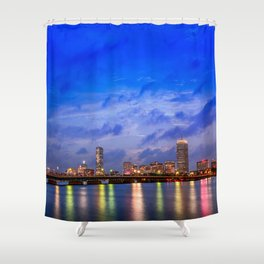 Harvard Bridge, colorful reflection Shower Curtain
