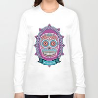 mexican Long Sleeve T-shirts featuring Mexican Skull by Xonomitl