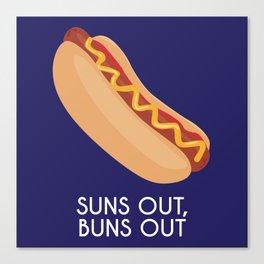 Suns out, buns out Canvas Print
