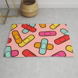 Rainbow Band-Aids Rug