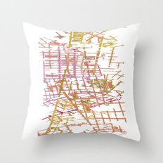 NYC Map lines Throw Pillow