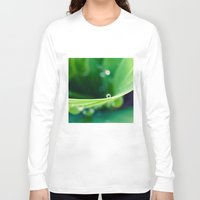 bubbles Long Sleeve T-shirts featuring bubbles by Bonnie Jakobsen-Martin