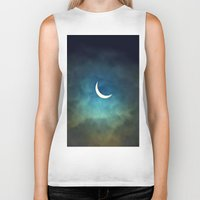 clockwork orange Biker Tanks featuring Solar Eclipse 1 by Aaron Carberry